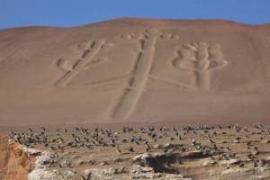 Zeichen in der Erde in Peru